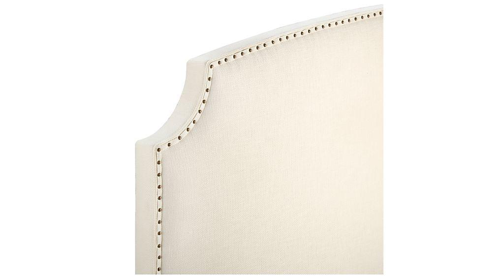 Curve Upholstered California King Headboard