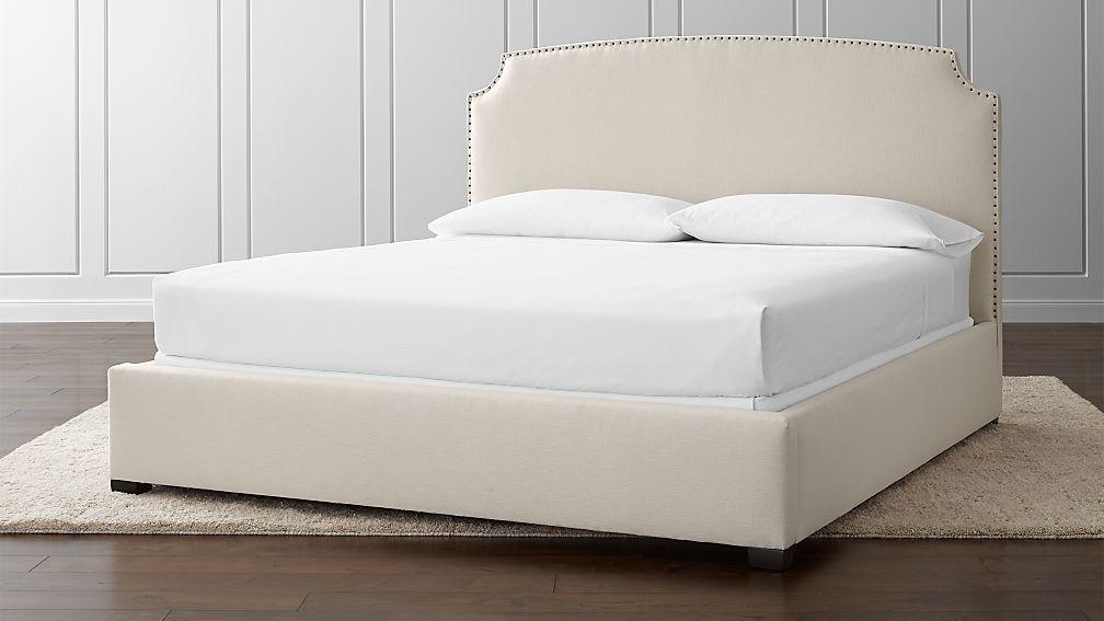 Curve Upholstered King Bed