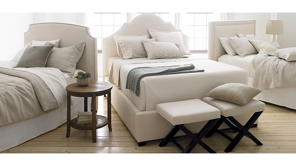 Curve Upholstered California King Bed