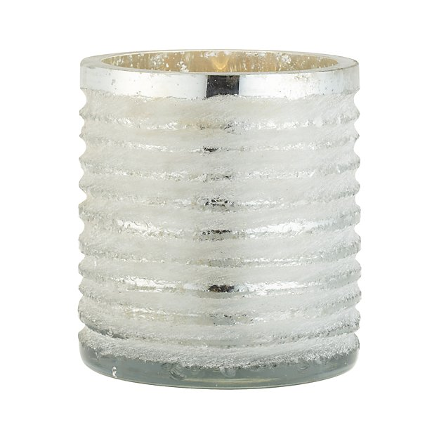 Cut-Glass Silver Votive Candle Holder