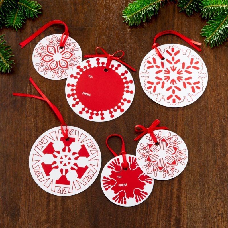 Cut Paper Snowflake Gift Tags Set of 6