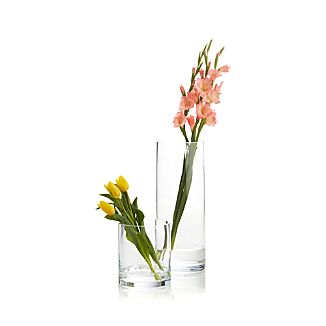 Cylinder Clear Glass Vases