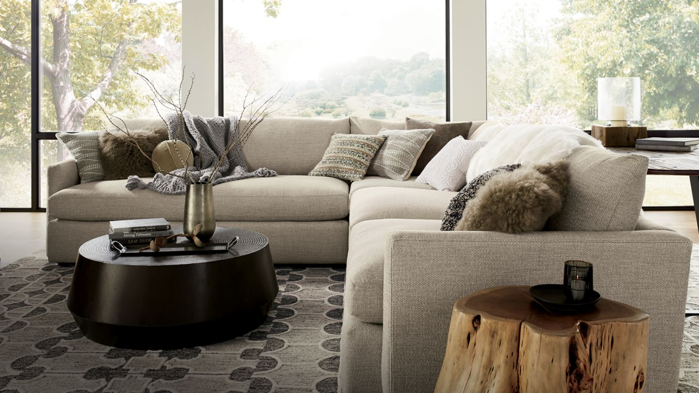 Crate And Barrel Living Room Ideas monochromatic interior design ideas | crate and barrel