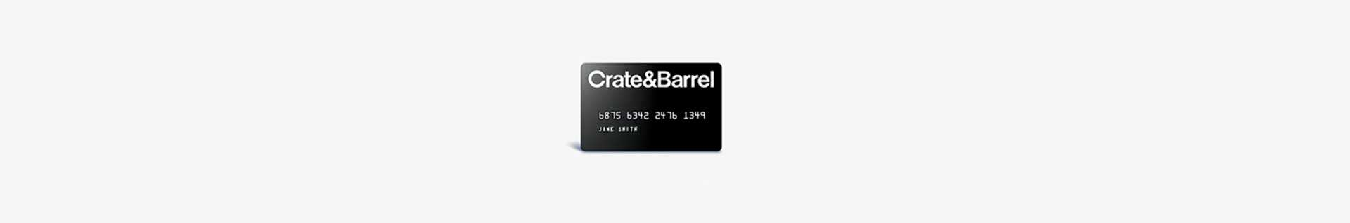 crate and barrel credit card