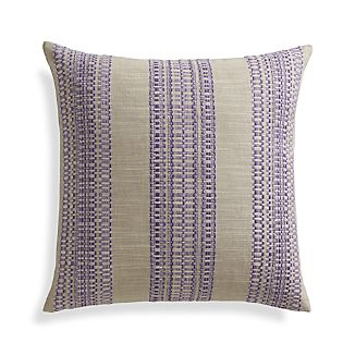 "Dabney Grape Purple 20"" Pillow with Feather-Down Insert"