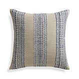 "Dabney Indigo Blue 20"" Pillow with Feather-Down Insert"