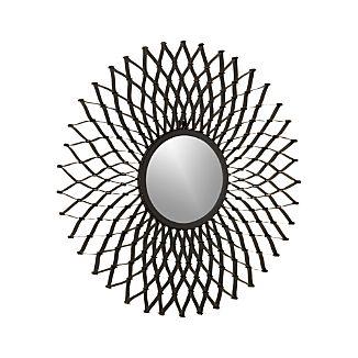 Dahlia Round Wall Mirror