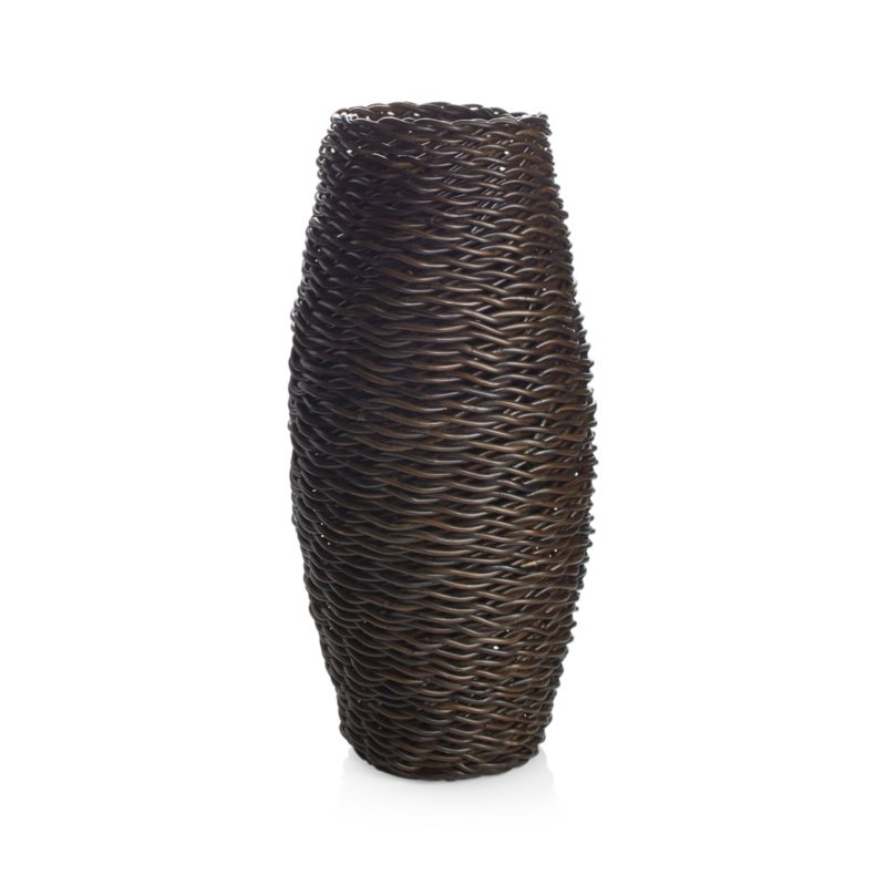 Darby Floor Vase/Umbrella Stand | shopswell on orange floor vase, mid century orange ceramic vase, floor candle holder vase, wicker floor vase, floor urn vase, floor glass vase,