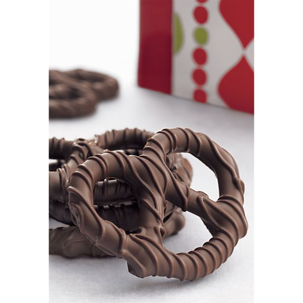 Dark Chocolate Pretzel Twists