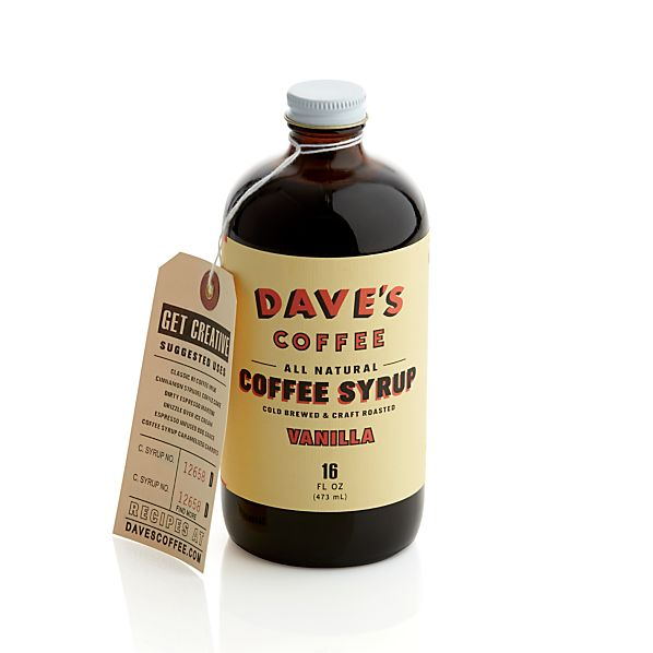 Dave's Vanilla Cold Brew Coffee Syrup