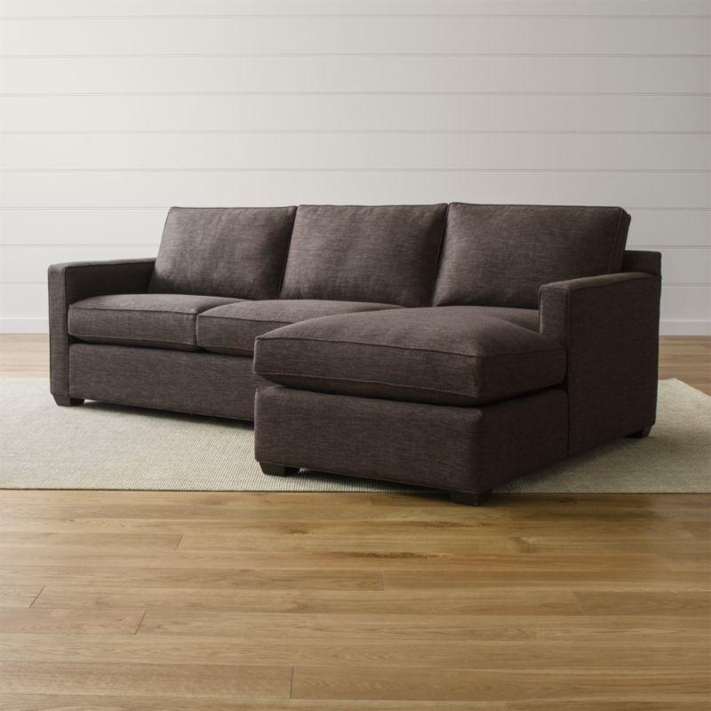 Davis 2 Piece Sectional Sofa Darius Graphite Crate And