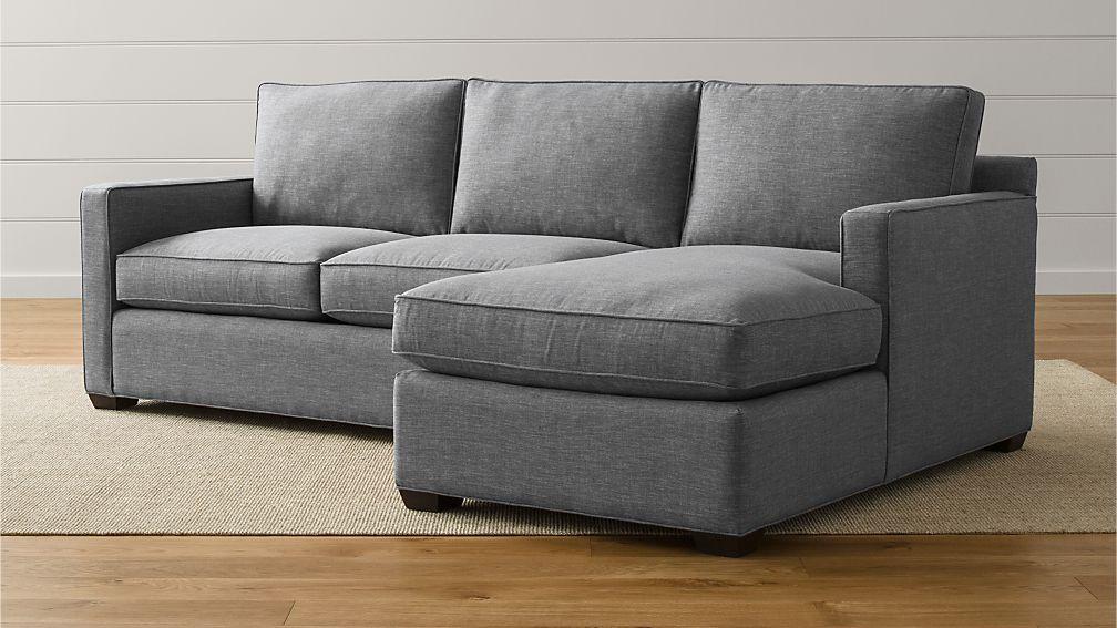 Davis 2 piece sectional sofa ash crate and barrel for Davis 2 piece sectional sofa