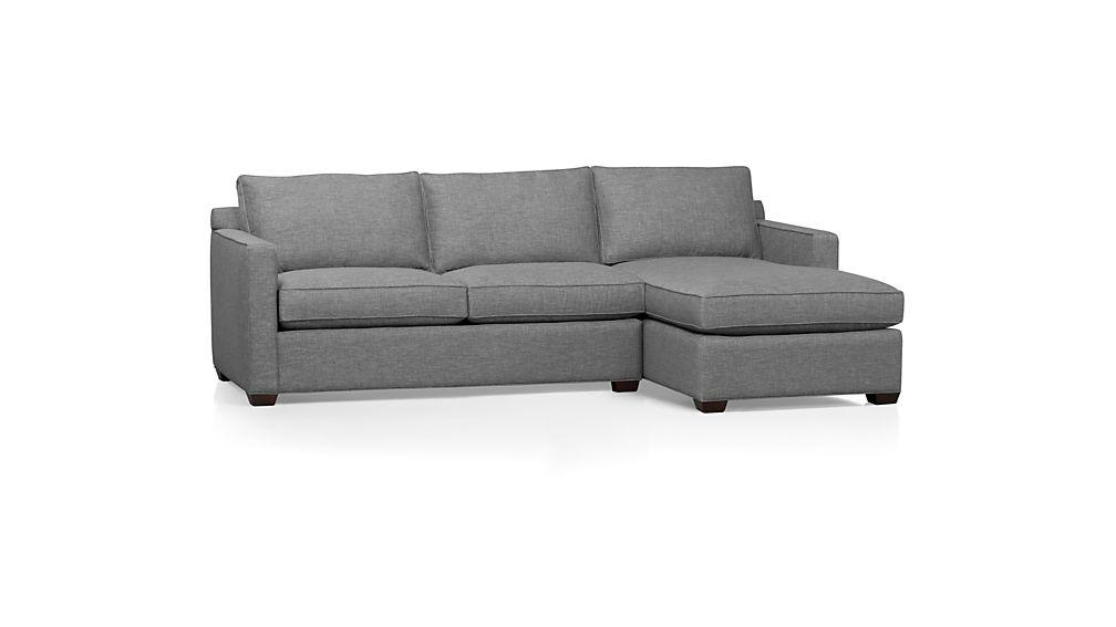 Davis 2 piece sectional sofa darius ash crate and barrel for Davis 2 piece sectional sofa