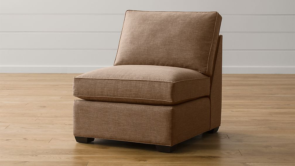 Davis armless chair darius mink crate and barrel for Crate and barrel armless chair