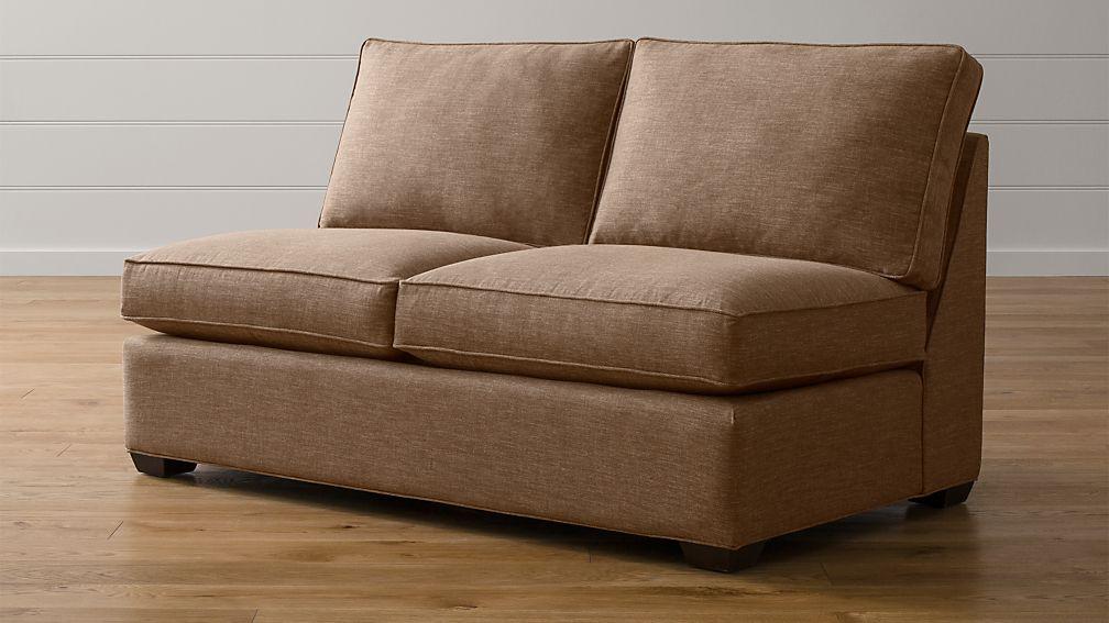 Davis Armless Full Sleeper Sofa With Air Mattress Darius Mink Crate And Barrel