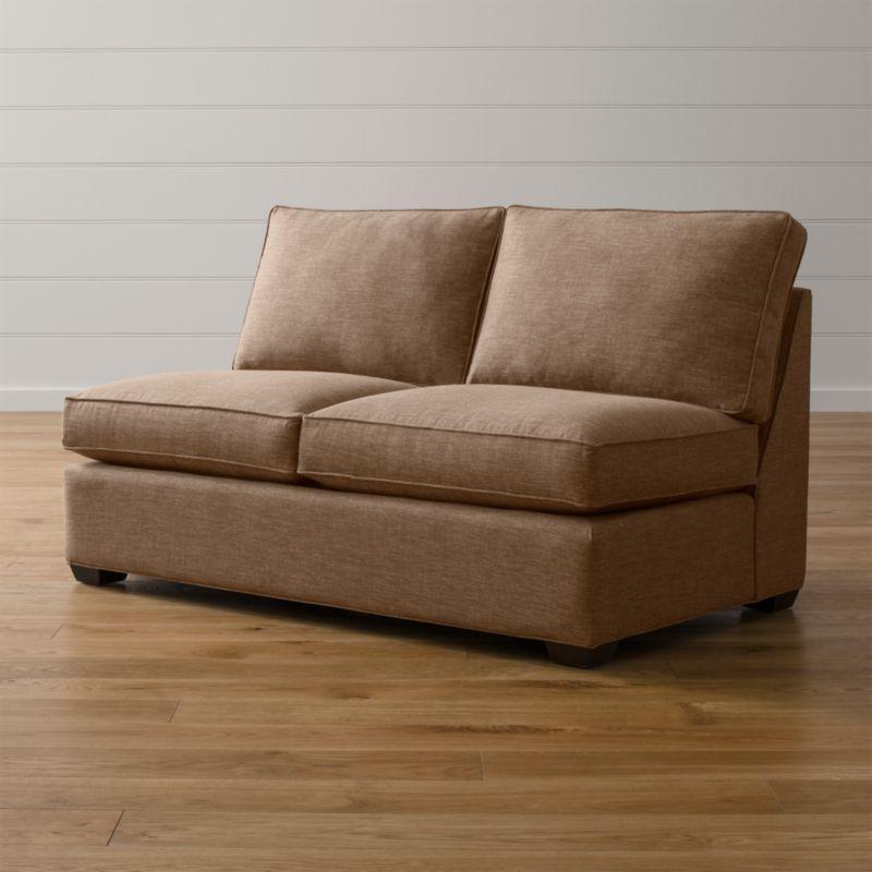 Davis Armless Full Sleeper Sofa Darius Mink Crate And Barrel