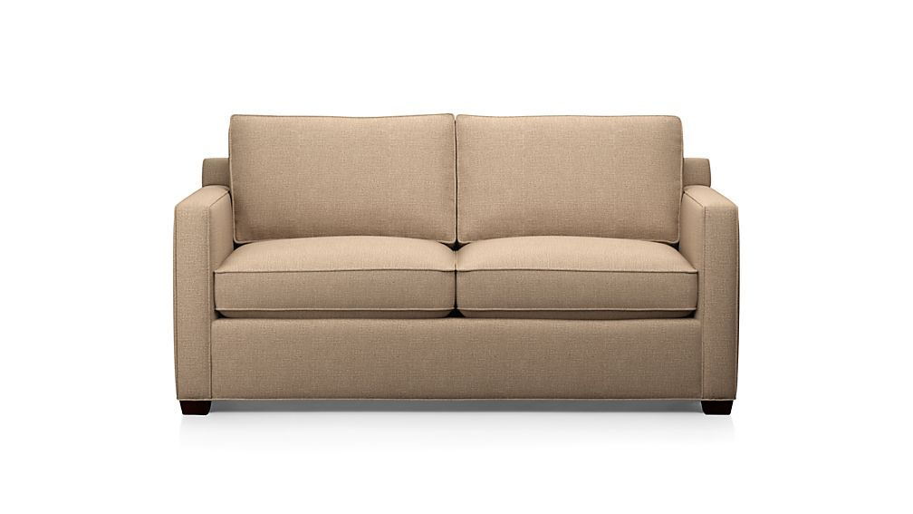 davis apartment sofa darius mink crate and barrel