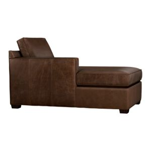 Davis Leather Sectional Left Arm Chaise