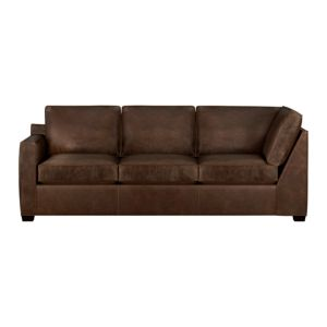 Davis Leather Sectional Left Arm Corner Sofa