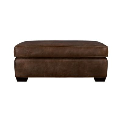 Davis Leather Ottoman and a Half