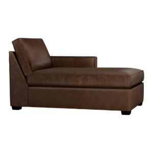 Davis Leather Sectional Right Arm Chaise