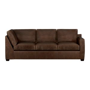 Davis Leather Sectional Right Arm Corner Sofa