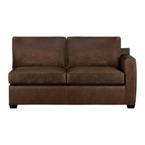 Davis Leather Right Arm Sectional Full Sleeper Sofa with Air Mattress