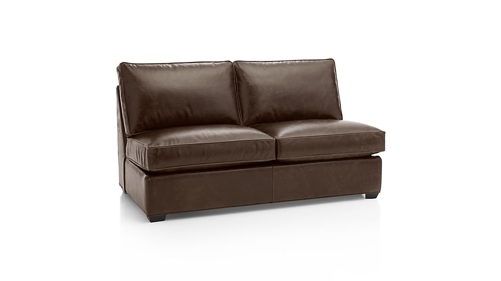 Davis Leather Armless Full Sleeper Sofa Libby Cashew Crate And Barrel