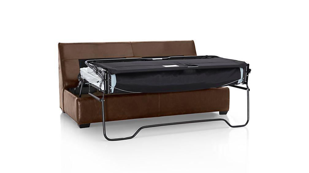 Davis Leather Armless Full Sleeper Sofa with Air Mattress