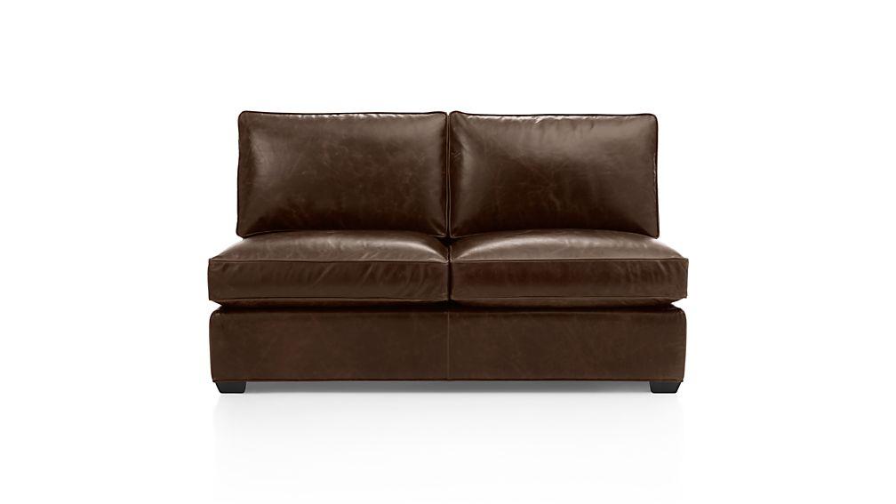 Davis Leather Armless Loveseat
