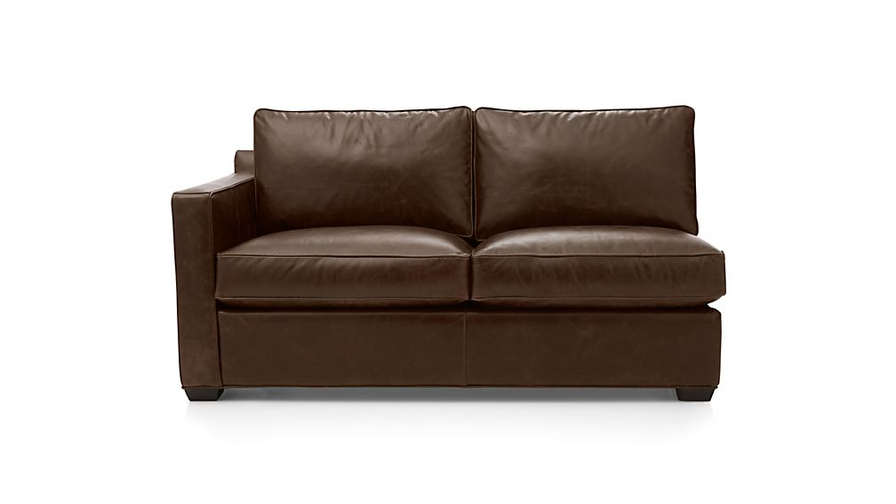 Davis Leather Left Arm Full Sleeper Sofa