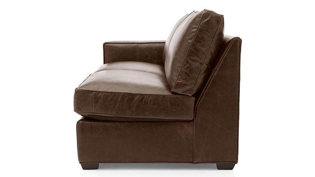 Davis Leather Left Arm Apartment Sofa