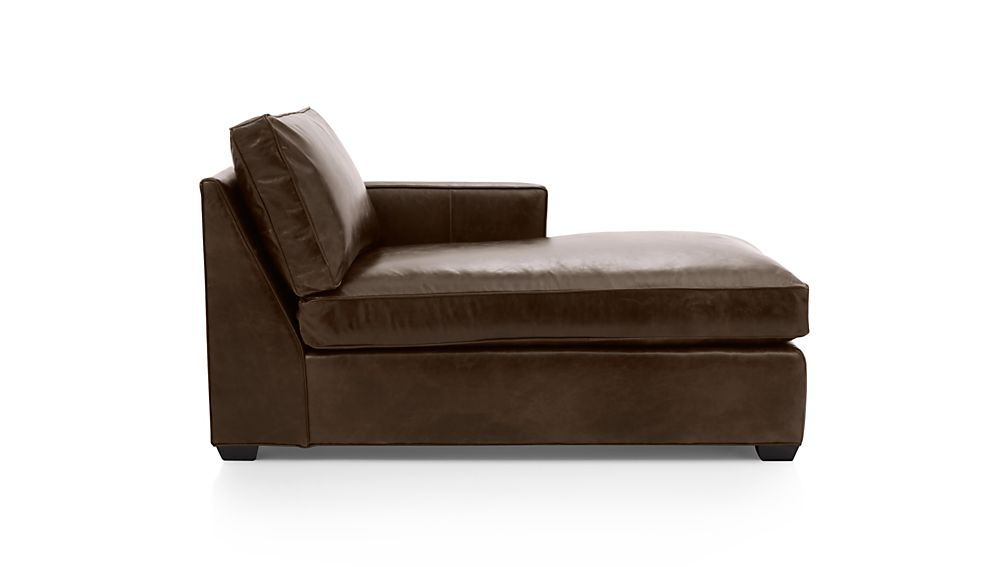 Davis Leather Right Arm Chaise