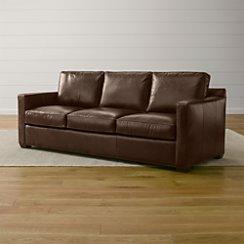 Davis Leather 3-Seat Sleeper Sofa with Air Mattress