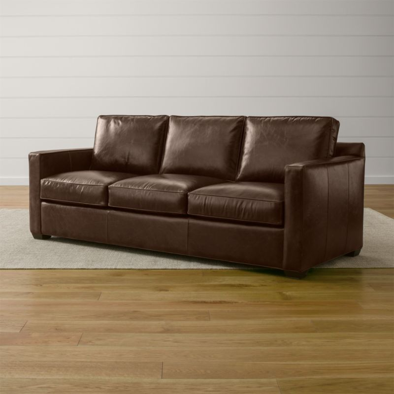 Davis Leather 3-Seat Sleeper Sofa