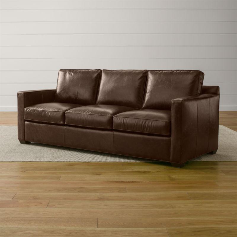 Davis Leather 3-Seat Sleeper Sofa