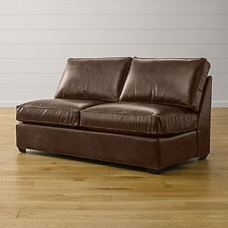 Davis Leather Armless Full Sleeper Sofa