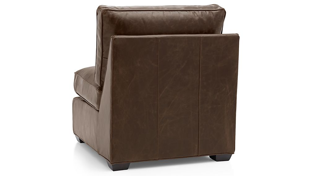 Davis Leather Armless Chair