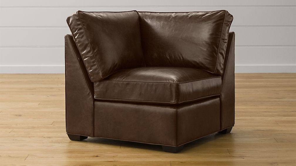 Davis Leather Corner Chair