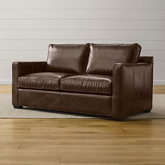 Davis Leather Full Sleeper Sofa with Air Mattress