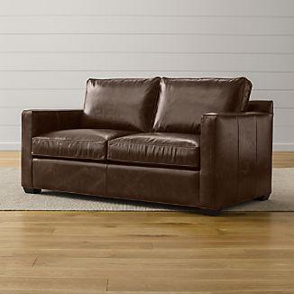 Davis Leather Apartment Sofa