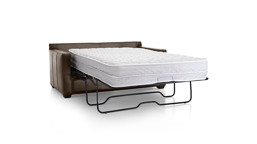 Davis Leather Full Sleeper Sofa with Air Mattress Libby