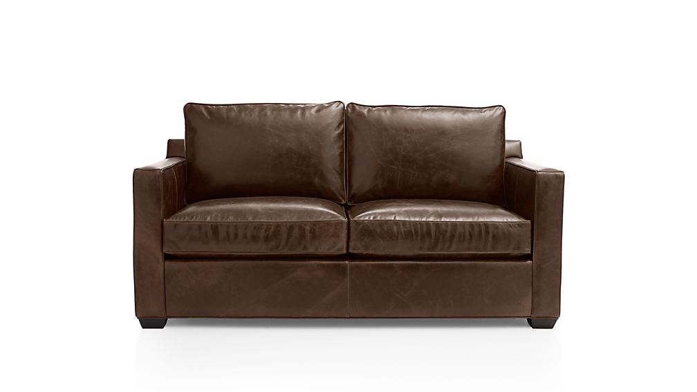 Davis Leather Full Sleeper Sofa Cashew Crate And Barrel