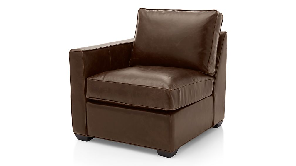 Davis Leather Left Arm Chair