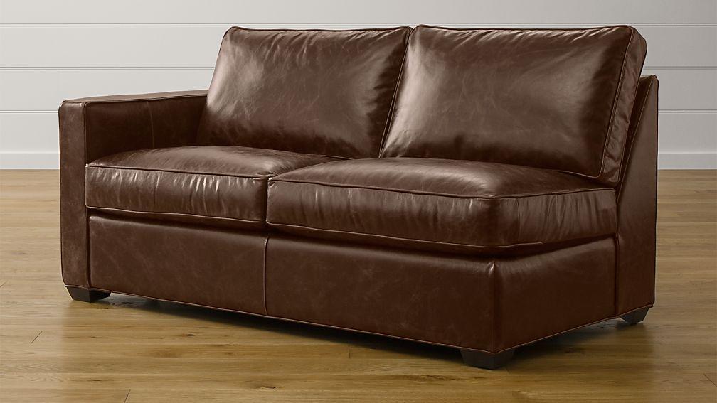 Davis Leather Left Arm Full Sleeper Sofa with Air Mattress