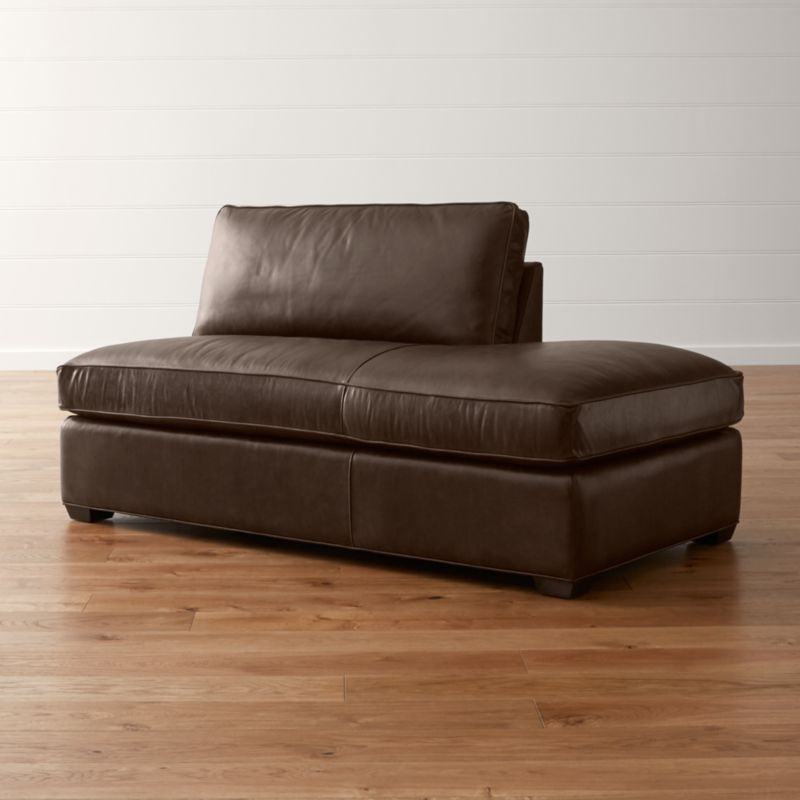 Davis Leather Right Bumper Sofa