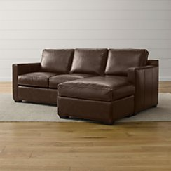 Davis Leather Right Arm Queen Sleeper Lounger