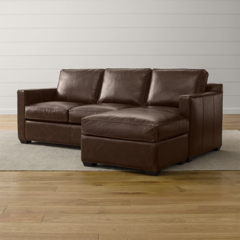 Davis Leather Right Arm 3-Seat Lounger