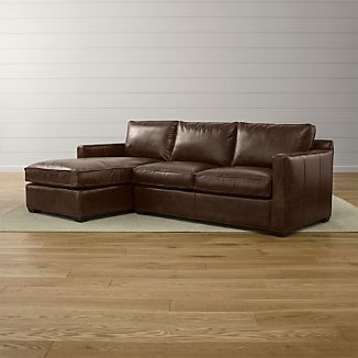 Davis Leather 2-Piece Sectional Sofa
