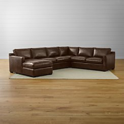 Davis Leather 4-Piece Sectional Sofa